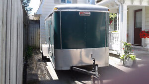 14' Enclosed Jenson Cargo Trailer, Barn and Side Door, New Tires