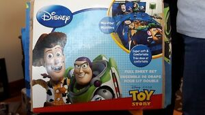 Toy Story Sheet Set- Full size 4 pc brand new never used only 10