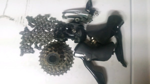 10 speed road parts---great deal for upgrades!