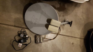 Bell Dual LNB Satellite Dish and SW44 Switch