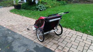 Chariot double cx2 with bike kit