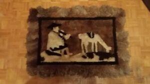 Murale ou tapis en fourrure d'alpaga