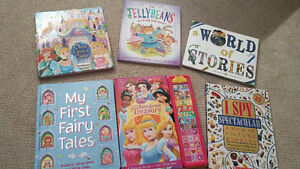 Books (readers and hardcover large story books)