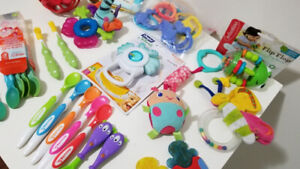 Baby feeding, teething items, oral care, rattles, toys