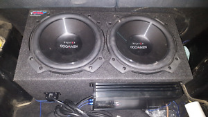 Subwoofer box and amp set up