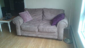 Microfiber couch and loveseat