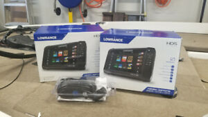 Lowrance Carbon 9s and a New in box LIVE 9