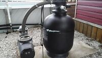 Pool pump and sand filter