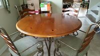 Dining Room Set- Beautiful Solid Table and 4 chairs