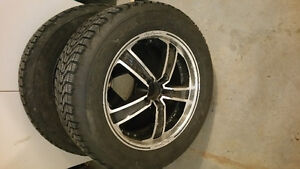 Firestone winter tires studded with rims