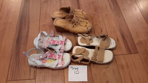 size 10 girl shoes sandels and clogs