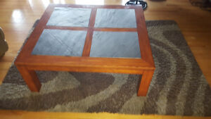 Coffee Table and end tables with Marble/Granite inserts