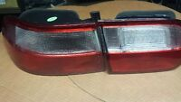 1992-1995 4DR Hond Civic Aftermarket Red and White Tail Light