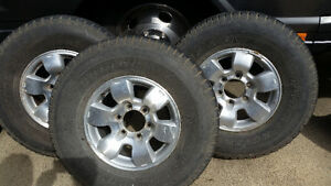numerous tires and rims