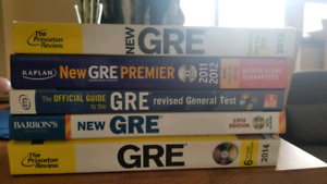 GRE textbooks- new condition - hardly used