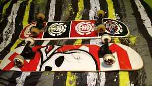 Two professional skateboards.