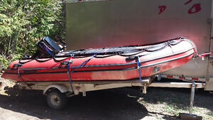 14.5' Mercury inflatable boat for sale