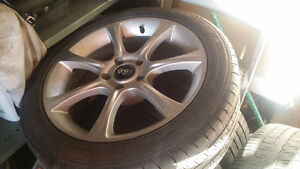 4 ASA rims and tires for bmw or jaguar  245/45/18 Cambridge Kitchener Area image 1