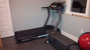 tread mill and gym equipment