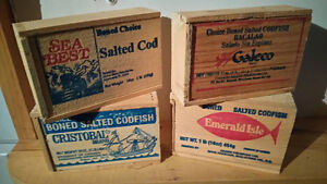 Fish Boxes made by the old box factory in Northwest, Lunenburg