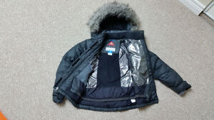 Girls Columbia Mini Lay D Down Winter Coat-Black Stratford Kitchener Area image 3