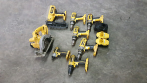 Multiple 18V DeWalt Tools