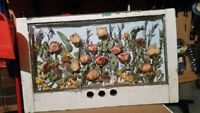 Have your WEDDING flowers Preserved in an ANTIQUE Window