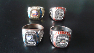 Molson NHL Stanley Cup Rings - Used