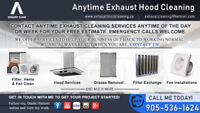 ANYTIME EXHAUST AND HOOD CLEANING - COMPLETE DEGREASE & CLEANING