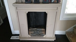 old country artificial fireplace