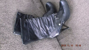 real leather high heel boots