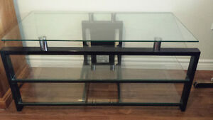 "Price Reduced! 3 shelf glass TV stand-good for up to 40"" TV"