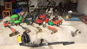 LAWN EQUIPMENT BLOWOUT - MOWERS TRIMMERS BLOWERS