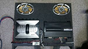"""Speaker Box with 2 x amps, 2x 6x9 speakers and 2x 10""""subs Cornwall Ontario image 6"""