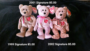 TY Beanie Babies Mint Condition
