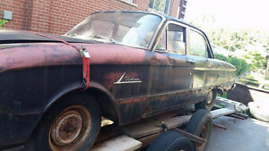 Classic car in need of restoration