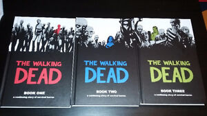 The Wlaking Dead graphic novel 1-2-3 hardcover - like new