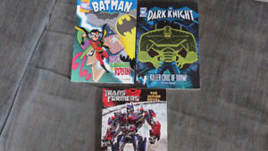 Batman,Dark Knight,Transformers books(3)