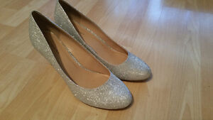 Silver sparkly shoes from call it spring