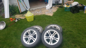 "BMW 3 series 16"" winter rims and runflat winter tires"