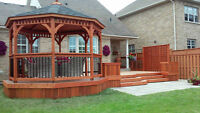 Need your cedar deck, fence or siding stained? Call me first.