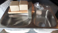 New in BOX Stainless Steel Sink + Extras