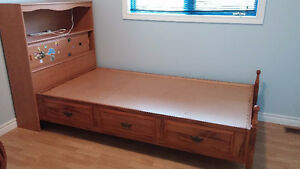 Twin Mates Bed and Dresser