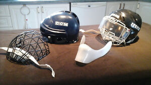 Hockey helmet and cage