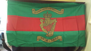 Vintage (new) Ulster Defence Regiment Flag Banner - 1970 -1 992