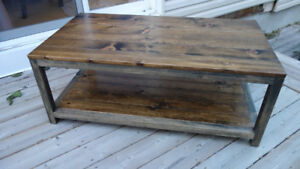 Custom coffee, end tables, toy box, hutches and more