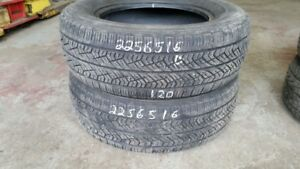Pair of 2 Yokohama Avid S33 225/65R16 tires (50% tread life)