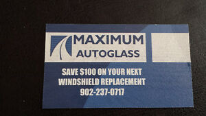 MAXIMUM AUTO GLASS save up to $100.00 off your deductible