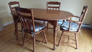 Table + 9 chairs + 2 extensions: 50$