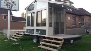 8x20 flatbed with sunroom